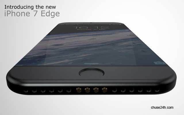 Ngắm concept iPhone 7 Edge màn hình cong không viền cực quyến rũ, trang bị sạc nam châm MagSafe