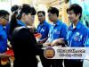 Hỗ trợ mũ bảo hiểm tình nguyện viên phục vụ kỳ thi THPT Quốc gia 2015 tại Gia Lai