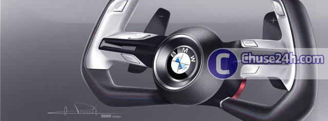 Kiểu dáng vô lăng sử dụng trên bản concept mới của BMW.
