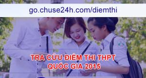 TRA CỨU ĐIỂM THI THPT QUỐC GIA 2015