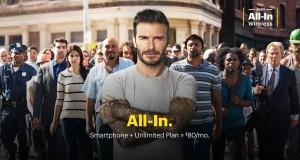 Beckham quyến rũ trong quảng cáo nhà mạng di động