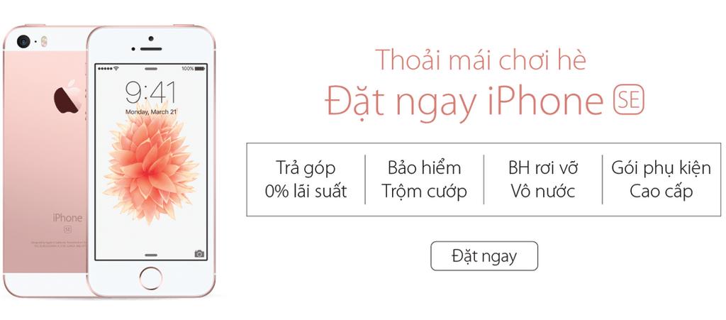 iPhone SE chính hãng - với gói quà tặng tuyệt đỉnh từ Viễn Thông A