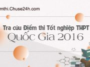 Tra cứu điểm thi THPT quốc gia 2016 trên Chuse24h