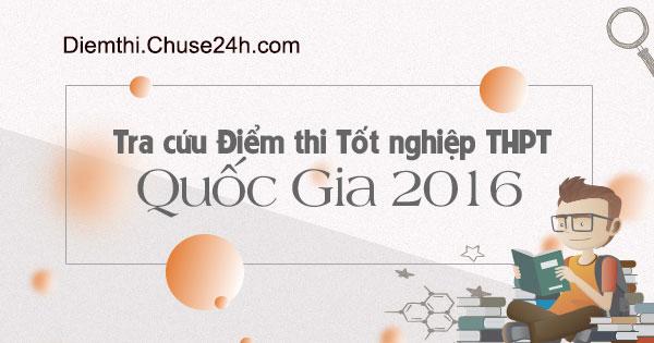 Tra cứu điểm thi THPT quốc gia 2016 trên Chuse24h