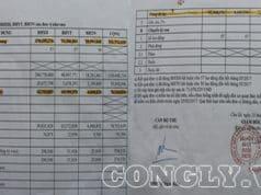 Số tiền gốc và tiền lãi trường Tiểu học Lê Văn Tám đóng tại BHXH huyện Chư Sê ngày 24/5.