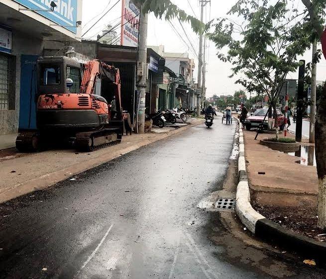 Bất nhất diện tích bề rộng tại tuyến đường gom huyện Chư Sê