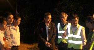 Ban ATGT Gia Lai kiểm tra đường Hồ Chí Minh lúc nửa đêm