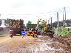 Sửa đường liên huyện sau phản ánh của Báo Giao Thông