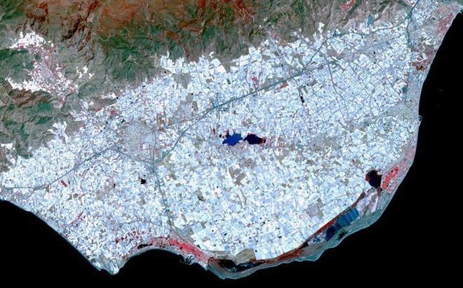 Ở Tây Ban Nha, có một khu vực nhà kính trồng cây san sát rộng 200 km vuông, nhìn thấy được từ quỹ đạo, cung cấp rau quả cho toàn bộ Châu Âu